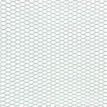 Sechseckgeflecht Volierendraht Hasendraht 0,50 x 25 m Drahtzaun Zaun grün 13 mm