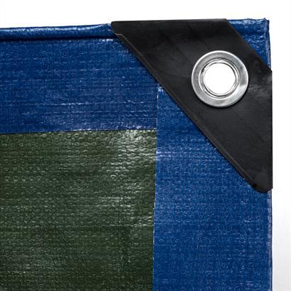 Abdeckplane 90 g/m², 180 g/m² oder 260 g/m² blau grün