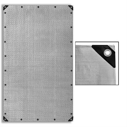 Abdeckplane 90 g/m², 180 g/m² oder 260 g/m², grau