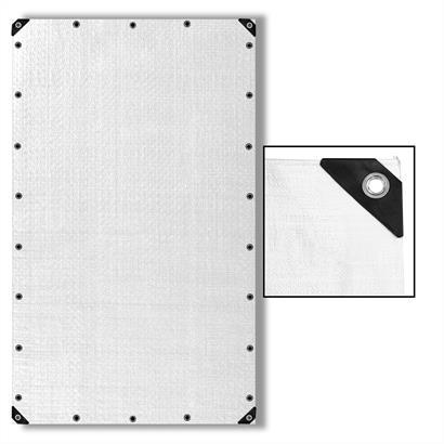 Abdeckplane 90 g/m², 180 g/m² oder 260 g/m², weiß