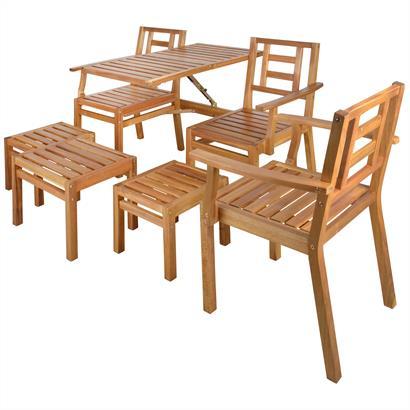 Gartenmöbel Set Akazienholz 5teilig Esschert Design