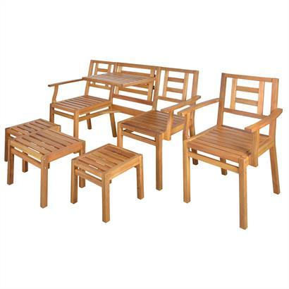 Akazienholz Sitzgruppe 5teilig von Esschert Design