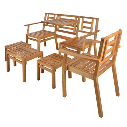 Gartenbank Set Akazienholz 5tlg Esschert Design