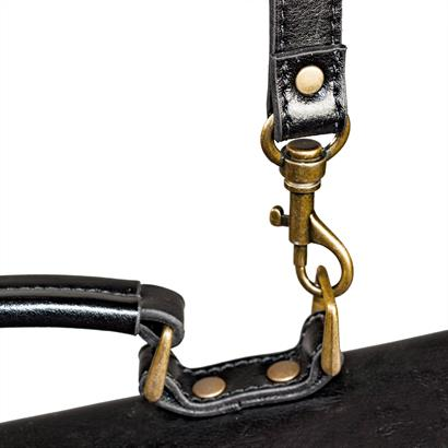 Leder Aktentasche schwarz