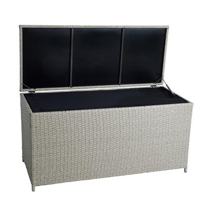 Auflagenbox Poly Rattan Kissenbox Gartenbox Aufbewahrungsbox Box Beige