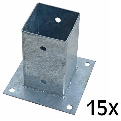 Aufschraubhülse Pfostenhülse 15x Pfostenträger 81 x 150 mm Aufschraubbodenhülse