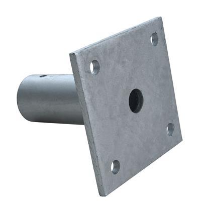 Aufschraubhülse Pfostenhülse Pfostenträger Bodenhülse rund für 34 mm Pfosten