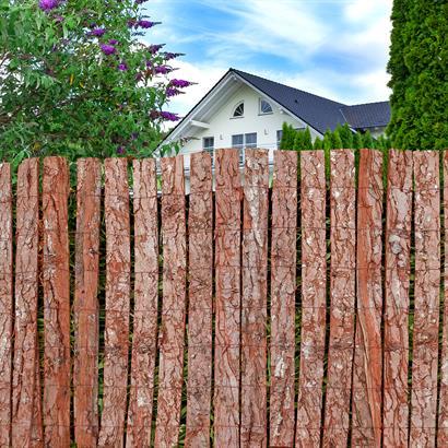 Baumrinden Sichtschutz