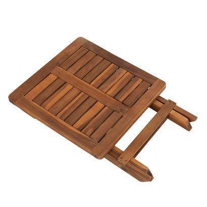 Beistelltisch Holztisch Lounge Tisch Kaffeetisch Gartentisch Klapptisch Akazie 40 x 40 cm