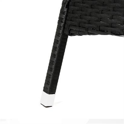 Polyrattan Beistelltische weiß schwarz