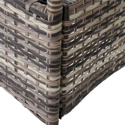 Beistelltisch Tisch Polyrattan Gartentisch Rattan Balkontisch Rund Beige-Braun
