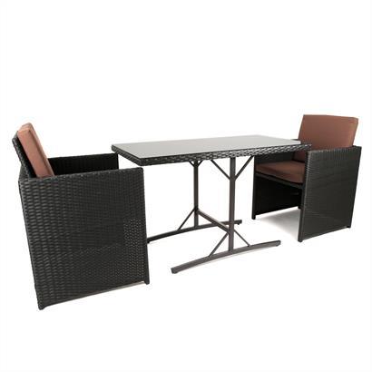 Rattan Sitzgruppe für 2 Personen
