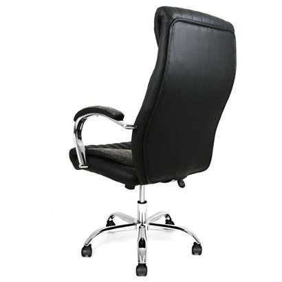 ESTEXO® Design Bürostuhl schwarz-silber