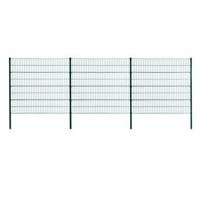 Doppelstabmattenzaun Gitterzaun Drahtgitter 160cm RAL 6005 Gartenzaun Stabmatten