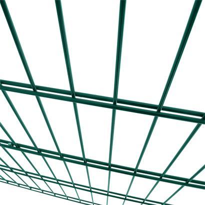 Doppelstabmattenzaun Erweiterung Gitterzaun 120cm RAL6005 Drahtgitter Gartenzaun