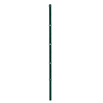 Pfosten für Doppelstabmattenzaun 210 cm RAL 6005 Gartenzaun Stabmattenzaun