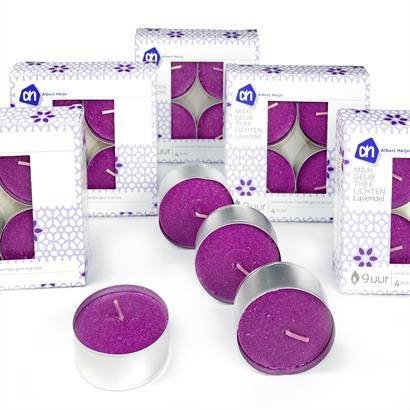 Maxi Duftteelichter im 24er Pack