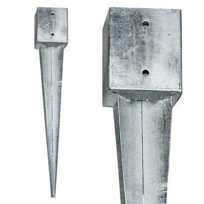 8 Einschlaghülsen Vierkant 121x121x750 mm