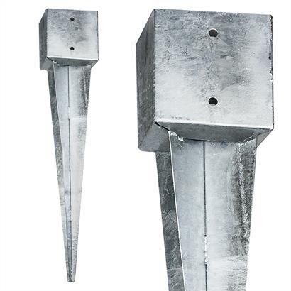 8 x Einschlaghülsen Vierkant 141x141x750 mm