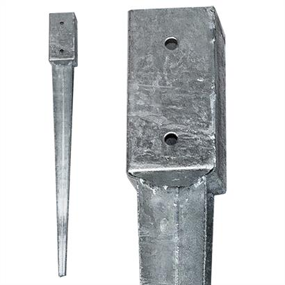 12 Einschlaghülsen Vierkant 71x71x750 mm