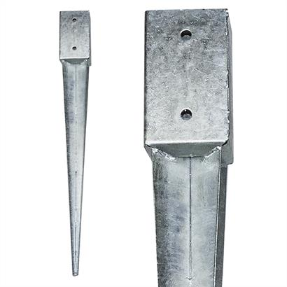 12 Einschlaghülsen Vierkant 81x81x750 mm