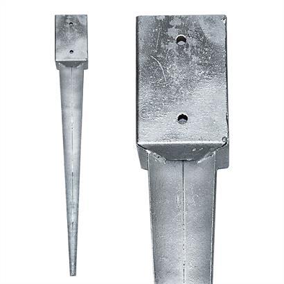 12 Einschlaghülsen Vierkant 91x91x750 mm