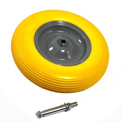 Schubkarrenrad Vollgummi PU 4.80/4.00-8 400 mm