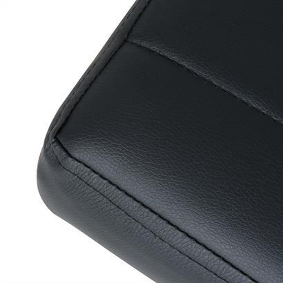 Sitzbank gepolstert schwarz