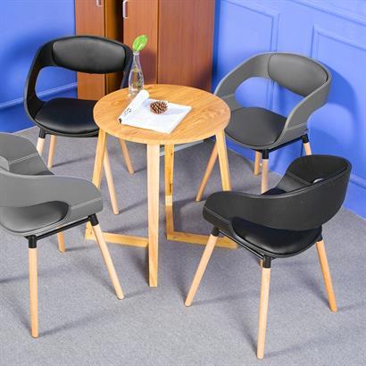 Retro Esszimmerstühle Kunstleder 2er
