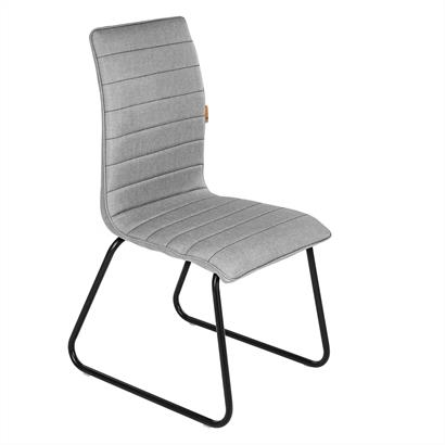 Esszimmerstühle Stoff grau schwarz 2er