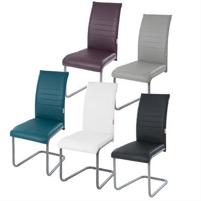 Freischwinger Stühle Kunstleder 2er