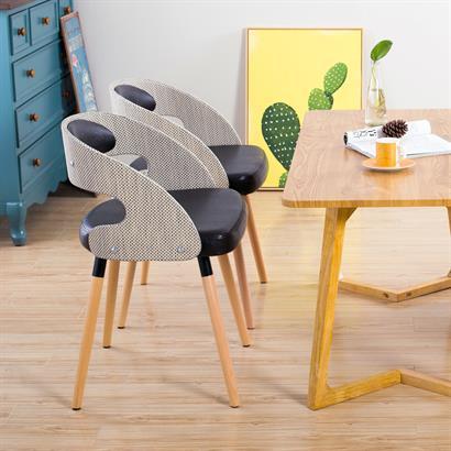 Retro Stühle Rattan Kunstleder 2er