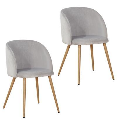 Retro Esszimmerstühle mit Samtbezug 2er