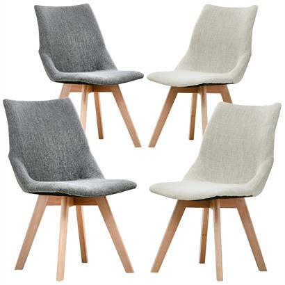 Designer Stühle Stoffbezug 2er