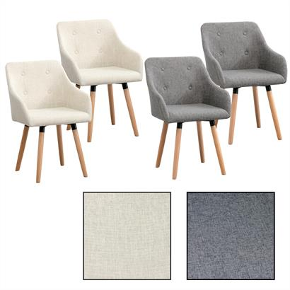 Designer Esszimmerstühle Stoff 2er