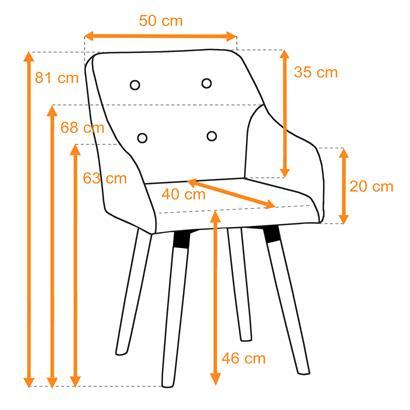 Esszimmerstuhl Küchenstuhl Stuhl 2er Set Vintage Essstuhl Stoffbezug Holz Stühle