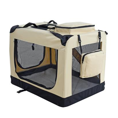 Transportbox Hundebox Faltbox XL Transporttasche faltbar Tierbox Hunde Beige