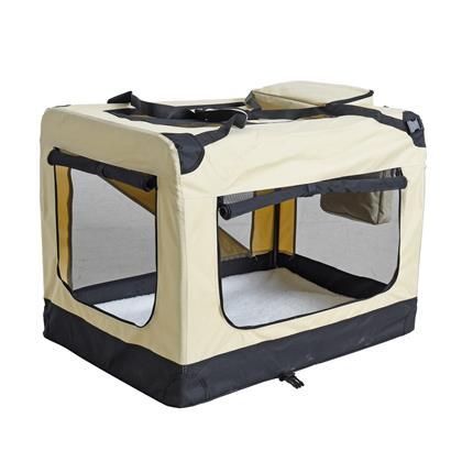 Transportbox Hundebox Faltbox XXL Transporttasche faltbar Tierbox Hunde Beige