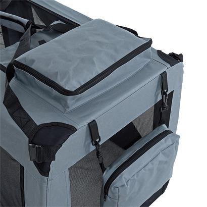Transportbox Hundebox Faltbox XL Transporttasche faltbar Tierbox Hunde Box Grau