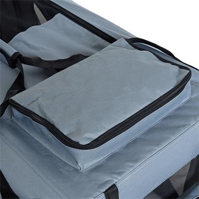 Transportbox Hundebox Faltbox XXL Transporttasche faltbar Tierbox Hunde Box Grau