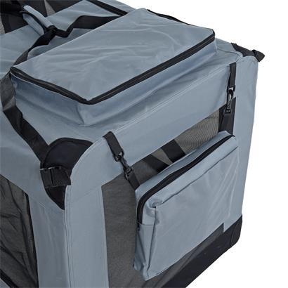 Transportbox Hundebox Faltbox XXXL Transporttasche faltbar Tierbox Hunde Grau