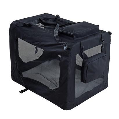 Transportbox Hundebox Faltbox XL Transporttasche faltbar Tierbox Hunde Schwarz