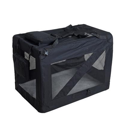 Transportbox Hundebox Faltbox XXL Transporttasche faltbar Tierbox Hunde Schwarz