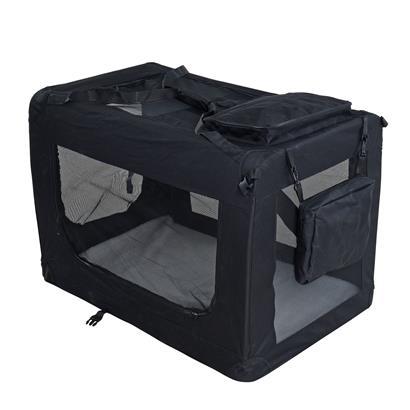Transportbox Hundebox Faltbox XXXL Transporttasche faltbar Tierbox Hunde Schwarz