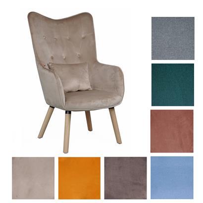 Fernsehsessel Relaxsessel Sessel mit Kissen Lese Stoff Polsterstuhl Wohnzimmer