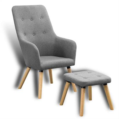 Retro Sessel mit Hocker