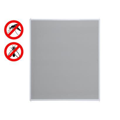 Fliegengitter Fenster mit Alurahmen weiß 100 x 120 cm