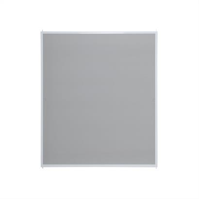 Fliegengitter für Fenster, mit Alurahmen weiß 100 x 120 cm