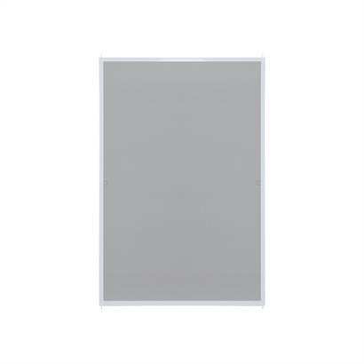 Fliegengitter Fenster mit Alurahmen weiß 80 x 120 cm