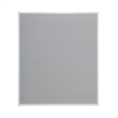 Fliegengitter für Fenster, mit Alurahmen weiß 120 x 140 cm